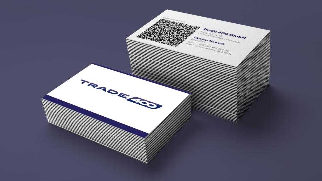 Neue Visitenkarten Für Trade 400 Mit Qr Code Realkonzept