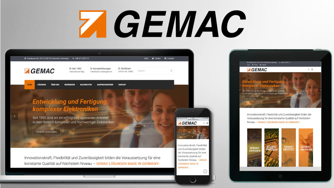 Website GEMAC Chemnitz GmbH
