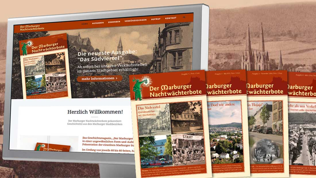 Neue Website für das Geschichtsmagazin Der Marburger Nachtwächterbote