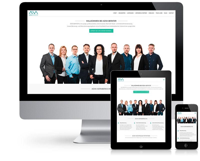Website-Überarbeitung für ADVA BERATER