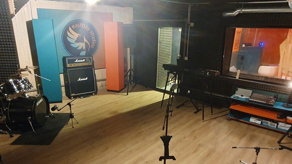 Einer der Proberäume des Studios