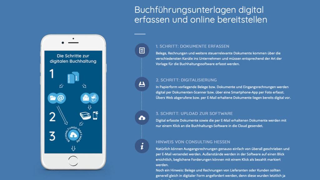 digitale Buchhaltung Schritt 1-3