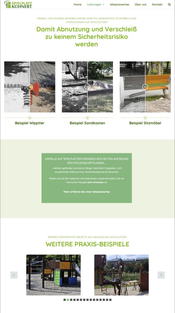 Die neue Seite zum Thema Reparatur der Website Spielplatz Kühnert