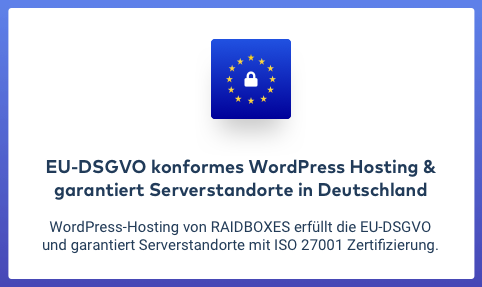 raidboxes DSGVO konform