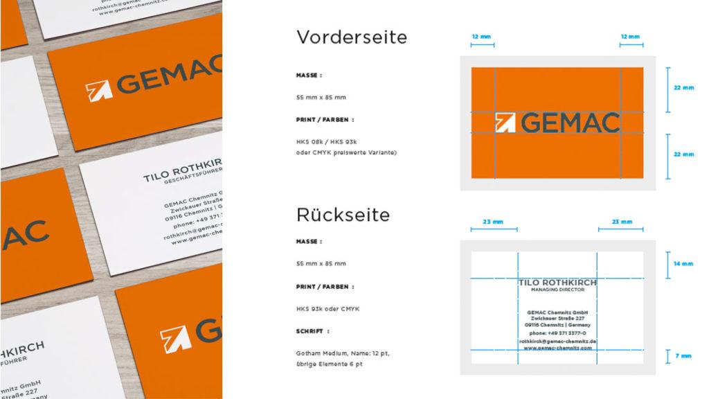Visitenkarten GEMAC CHEMNITZ